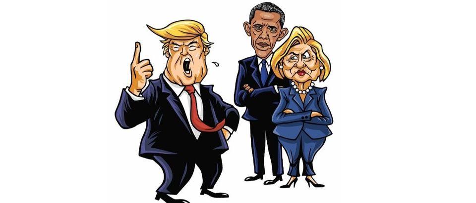 Trump Clinton Obama Shutterstock/doddis77