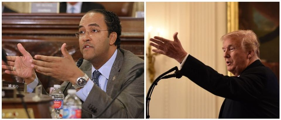 Trump and Hurd (LEFT: Photo by Chip Somodevilla/Getty Images RIGHT: BRENDAN SMIALOWSKI/AFP/Getty Images)