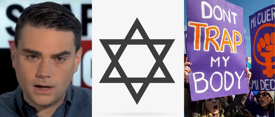 Ben Shapiro, the Unborn and Judaism/ YouTube, Shutterstock, Getty/ By Daily Signnal, Filip Doklada, and Drew Angerer