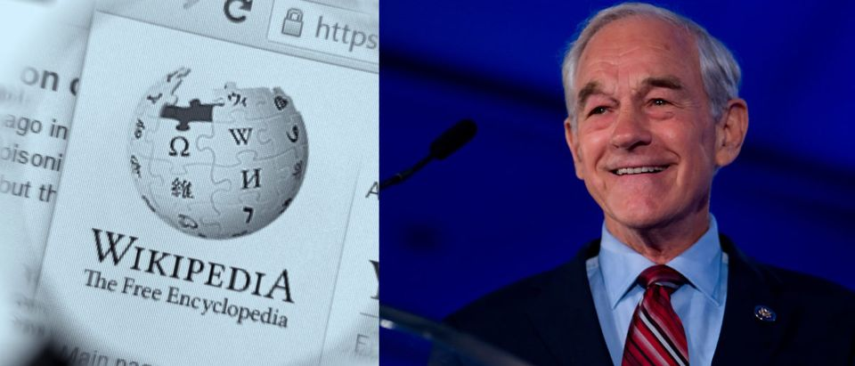 "A Wikipedia editor placed one of the most influential libertarian Republicans on a list of ""American White Supremacists"" for three weeks before it was removed. Images: Shutterstock.com"