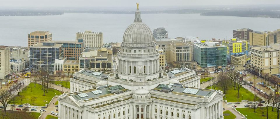Pictured is the Wisconsin state capitol in Madison Wisconsin. SHUTTERSTOCK/ Randy Kostichka