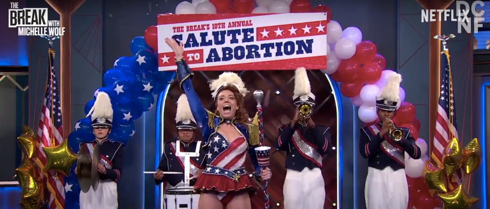 Michelle Wolf represents the new Democratic Party's position on abortion. (Screenshot/YouTube/DCNF)