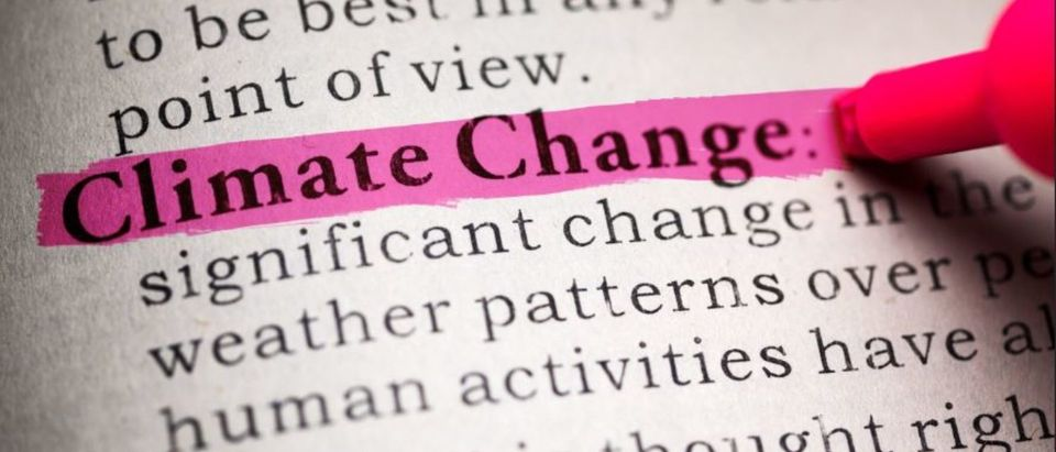 Fake Dictionary, definition of the word Climate Change. (Shutterstock/Feng Yu)