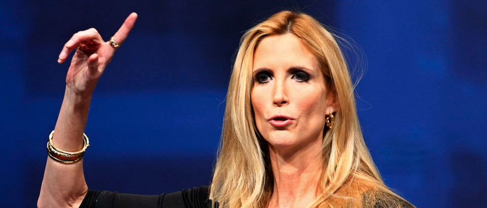 Political commentator and author Ann Coulter addresses the American Conservative Union's annual Conservative Political Action Conference (CPAC) in Washington, February 10, 2012. REUTERS/Jim Bourg