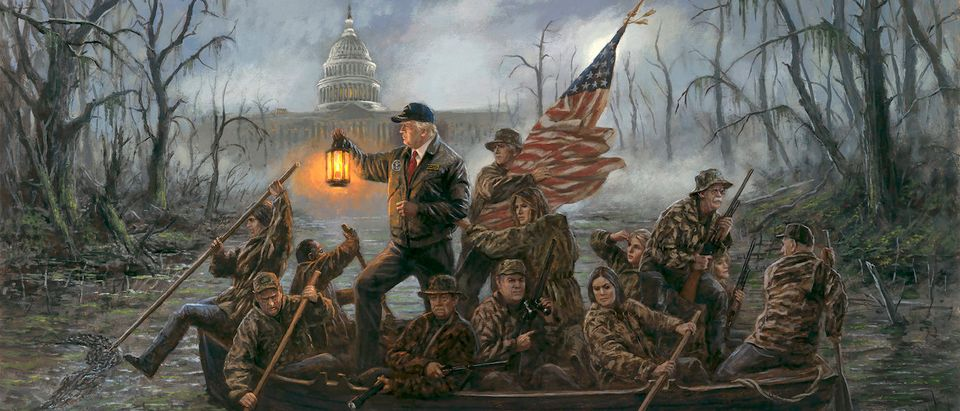Crossing the Swamp, by Jon McNaughton
