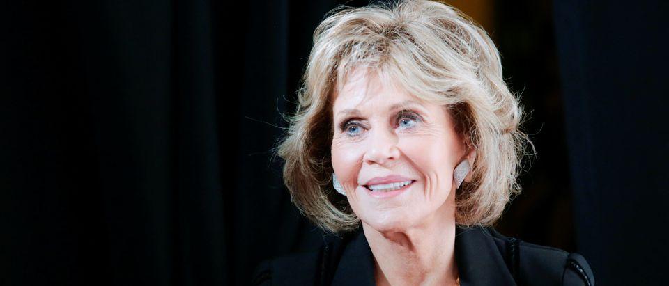 Actress Fonda attends the Women's Media Center 2017 Awards in New York