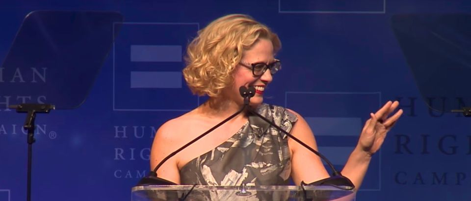 Kyrsten Sinema (YouTube screenshot/ Human Rights Campaign)