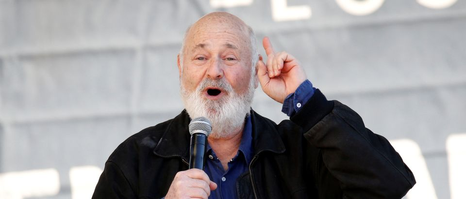 Director Rob Reiner speaks at the second annual Women's March in Los Angeles, California, U.S. January 20, 2018. REUTERS/Patrick T. Fallon
