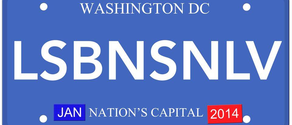 LSBNSNLV license plate, Shutetrstock/ By Keith Bell