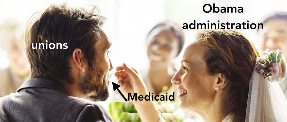 Government gives piece of Medicaid to uniaons, Shutterstock/ By Rawpixel.com