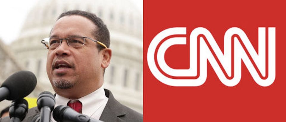 Left: Keith Ellison, Right: CNN (Getty Images, Screenshot)