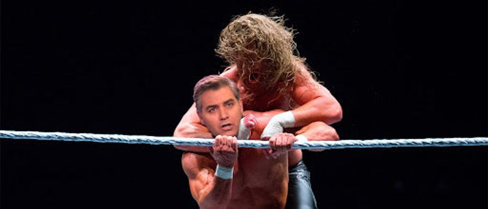 Jim Acosta (Getty) Gets Choked Out By Wrestler (Shutterstock)