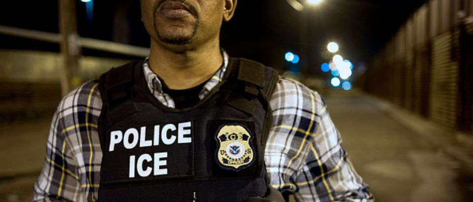 Immigration & Customs Enforcement (ICE) Agents Work At Border Ahead Of Possible DHS Shutdown