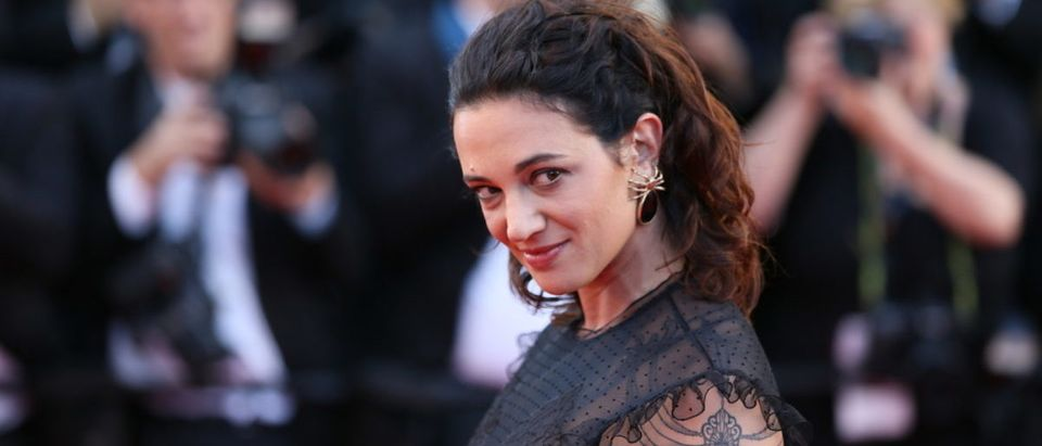 Asia Argento attends the 'Ismael's Ghosts (Les Fantomes d'Ismael)' screening and Opening Gala during the 70th annual Cannes Film Festival at Palais on May 17, 2017 in Cannes, France. (SHUTTERSTOCK)