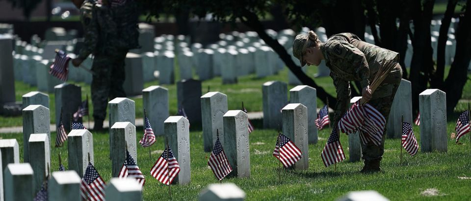 Arlington National Cemetery Holds Its Annual Flags In Event Ahead Of Memorial Day