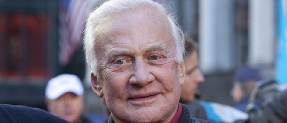 "Former astronaut and American hero Buzz Aldrin has called President Donald Trump's proposal of the Space Force ""one giant leap in the right direction"" on Friday. (Shutterstock)"