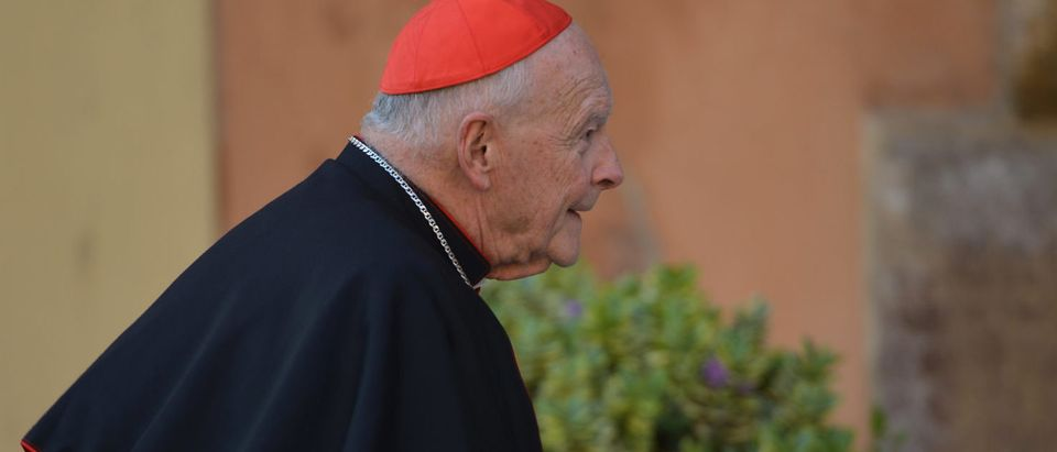 US cardinal Edgar Theodore McCarrick arrives for talks ahead of a conclave to elect a new pope on March 4, 2013 at the Vatican. The Vatican meetings will set the date for the start of the conclave this month and help identify candidates among the cardinals to be the next leader of the world's 1.2 billion Catholics. (VINCENZO PINTO/AFP/Getty Images)