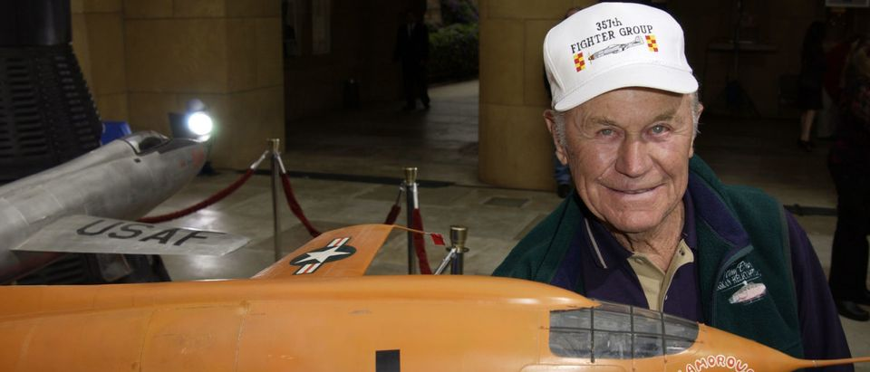 General Chuck Yeager (Photo by Robert Mora/Getty Images)