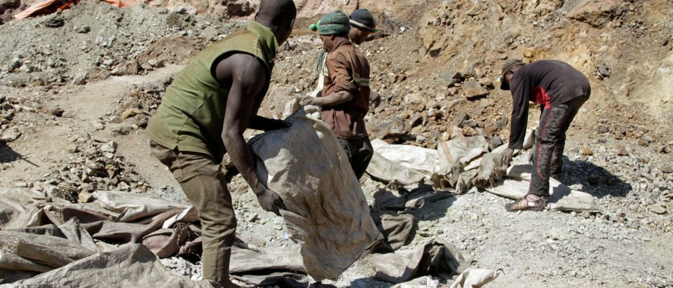 Artisanal miners work at the Tilwizembe outside of Kolwezi