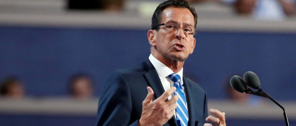 Connecticut Governor Malloy speaks at the Democratic National Convention in Philadelphia, Pennsylvania