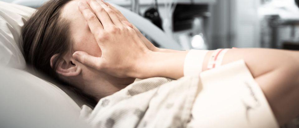 A depressed person facing mortality (Shutterstock/ KieferPix)