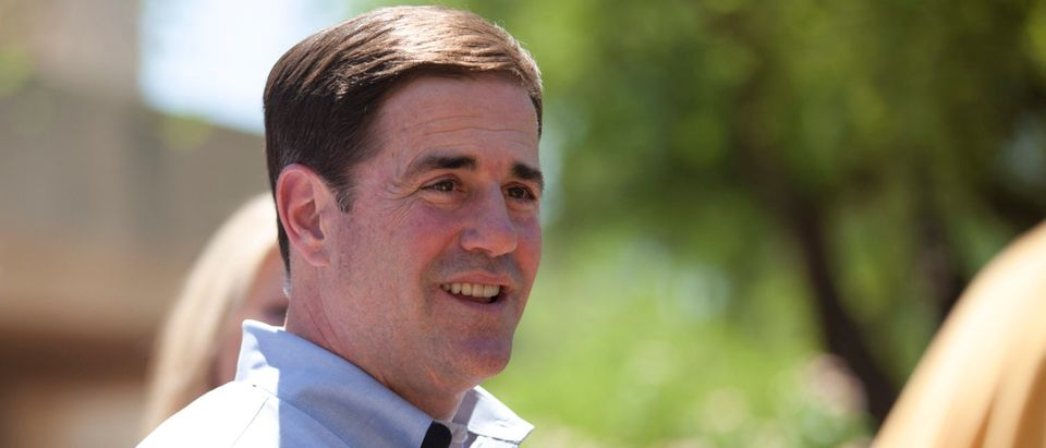 Ducey smiles after voting in Paradise Valley, Phoenix