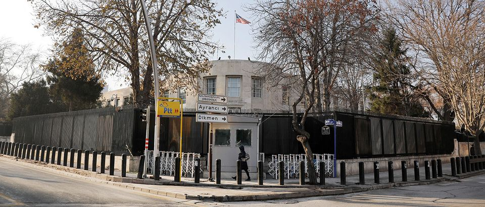 FILE PHOTO: General view of the U.S. Embassy in Ankara