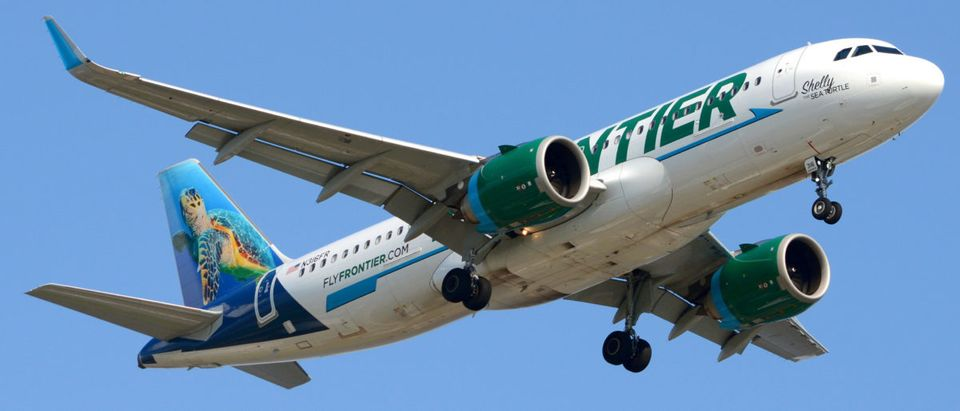 Pictured is a Frontier Airlines plane.(Shutterstock/Charles A Pierce)