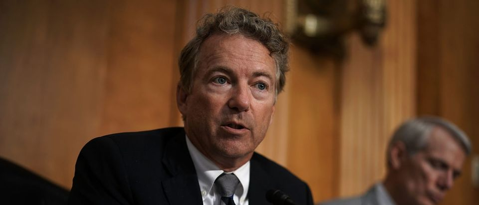 U.S. Sen. Rand Paul (R-KY) speaks during a hearing before Senate Foreign Relations Committee July 25, 2018 on Capitol Hill in Washington, DC. (Photo by Alex Wong/Getty Images)