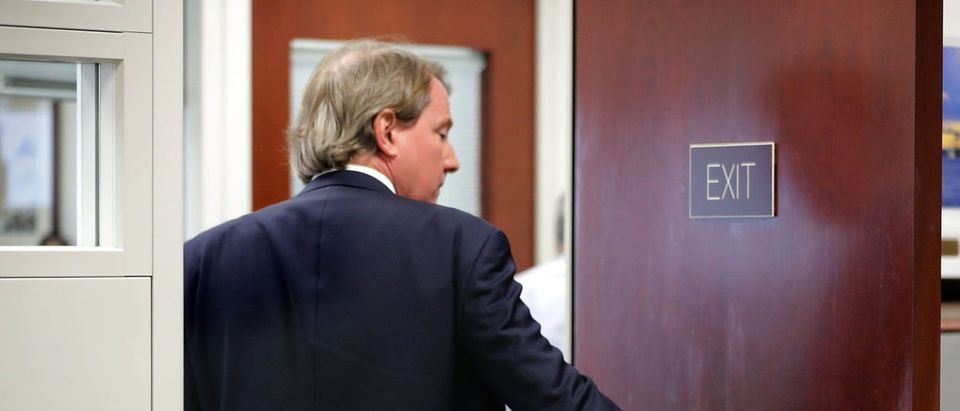 White House Counsel Don McGahn heads into a meeting with Supreme Court nominee Judge Brett Kavanaugh and Sen. Sheldon Whitehouse (D-RI) in the Hart Senate Office Building on Capitol Hill August 23, 2018 in Washington, DC. Chip Somodevilla/Getty Images