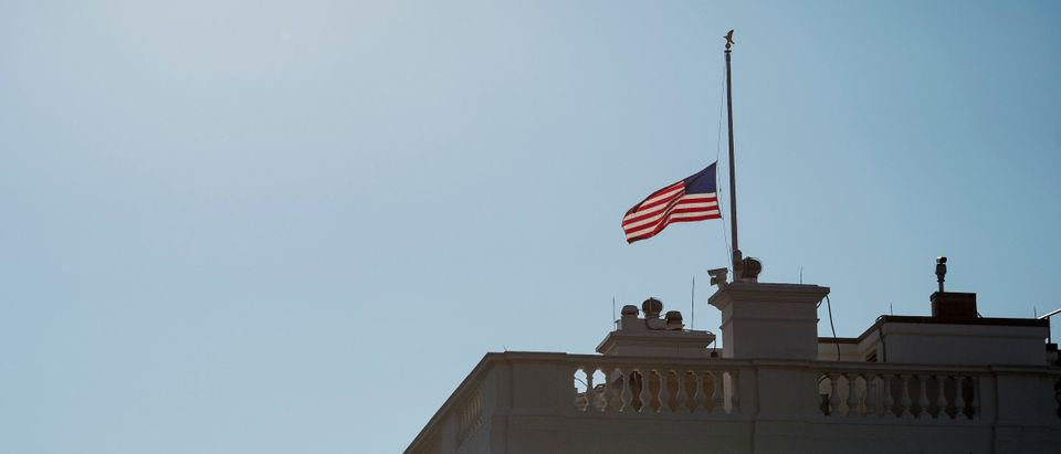 Flags At Half Staff Over The White House