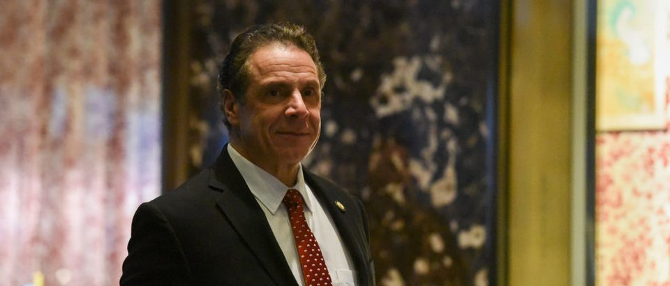 Andrew Cuomo, Governor of New York, arrives at Trump Tower in New York City