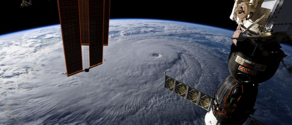 A photo from the International Space Station by astronaut Ricky Arnold shows Hurricane Lane in the early morning hours near Hawaii