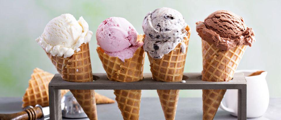 Pictured are ice cream cones. (Shutterstock/Elena Veselova)