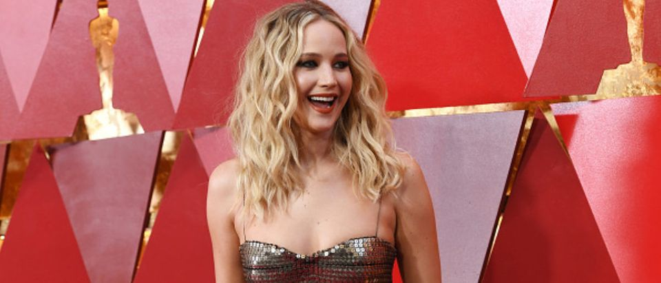 Jennifer Lawrence attends the 90th Annual Academy Awards at Hollywood & Highland Center on March 4, 2018 in Hollywood, California. (Photo by Kevork Djansezian/Getty Images)