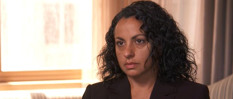 Karen Monahan speaks out (CBS screengrab)