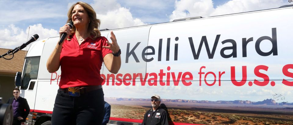 Kelli Ward campaigns in 2018
