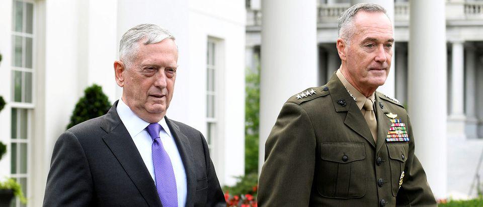 FILE PHOTO: Secretary of Defense Mattis and General Dunford issue statement on North Korea in Washington