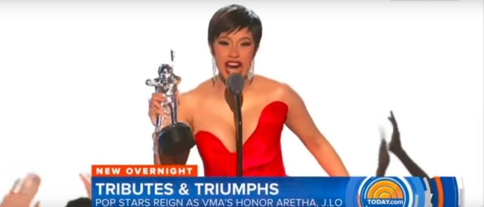 The MTV Video Music Awards saw a hefty drop in its ratings compared to 2017, after performers came out strong against President Donald Trump and the White House. (YouTube Screenshot NBC's Today 8-21-18)