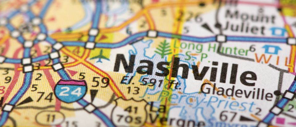 Map of Nashville (Shutterstock/Jason Kolenda)