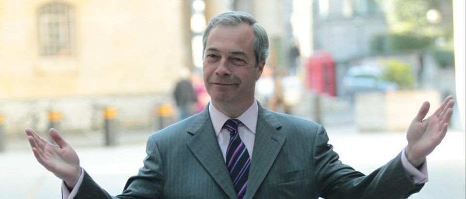 Nigel Farage is seen arriving at the BBC for the Andrew Marr show on May 1, 2016 in Londo. ShuterStock Twocoms