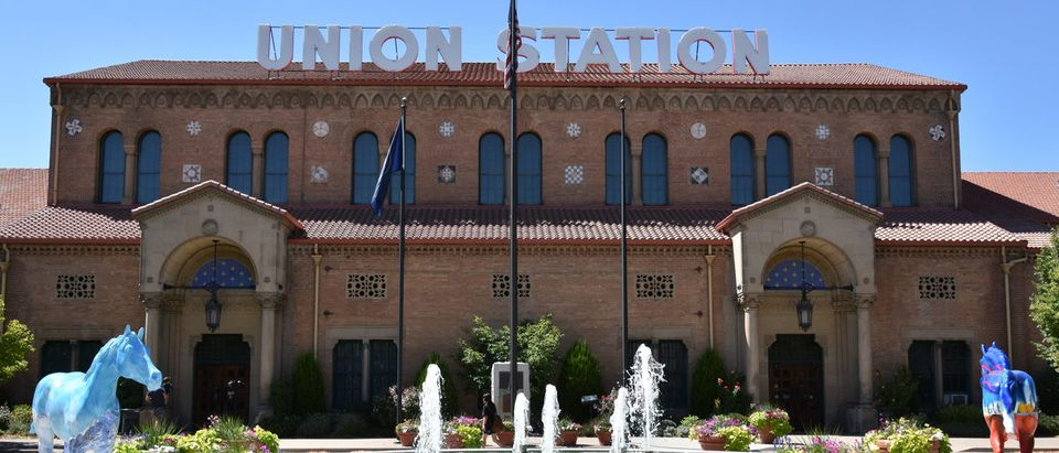 Union Station in Ogden, Utah, as seen on Aug 26, 2017. It was formerly the junction of the Union Pacific and Central Pacific Railroads.