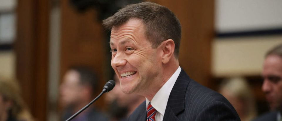 Deputy Assistant FBI Director Peter Strzok testifies before a joint committee hearing of the House Judiciary and Oversight and Government Reform committees in the Rayburn House Office Building on Capitol Hill July 12, 2018 in Washington, D.C. (Photo by Chip Somodevilla/Getty Images)