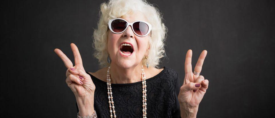 Protesting Grandma. Shutterstock