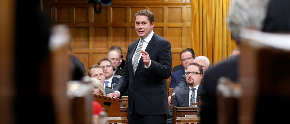 Conservative leader Scheer speaks in the House of Commons in Ottawa