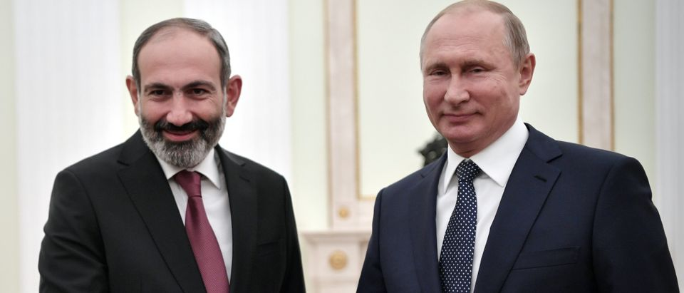 Russian President Vladimir Putin meets with Armenian Prime Minister Nikol Pashinyan in Moscow