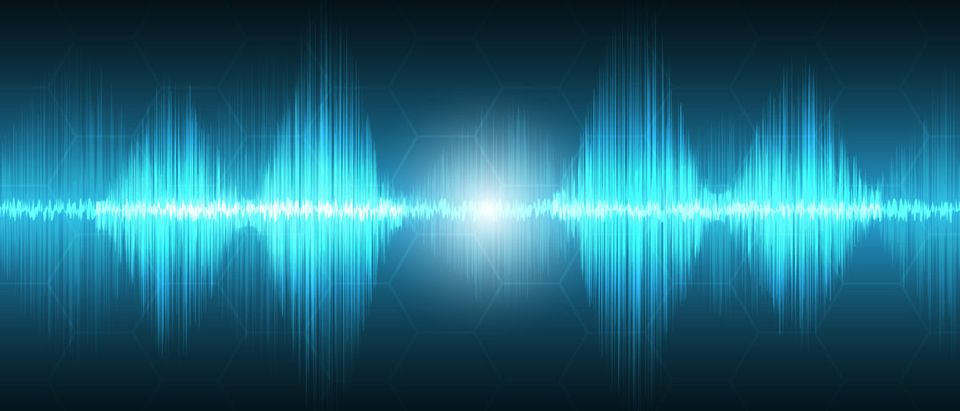 Abstract technology background, waves form, sound waves concept [Shutterstock/Mellow Studio]