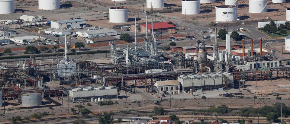 A refinery is shown in El Paso, Texas