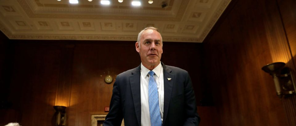 Interior Secretary Ryan Zinke before a Senate Appropriations Interior, Environment and Related Agencies Subcommittee hearing in Washington