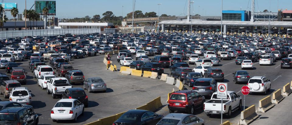 TIJUANA, MEXICO - FEBRUARY 8, 2018: The busy Tijuana/San Ysidro border crossing is generally jam packed with commuters traveling to the U.S. for business or pleasure.